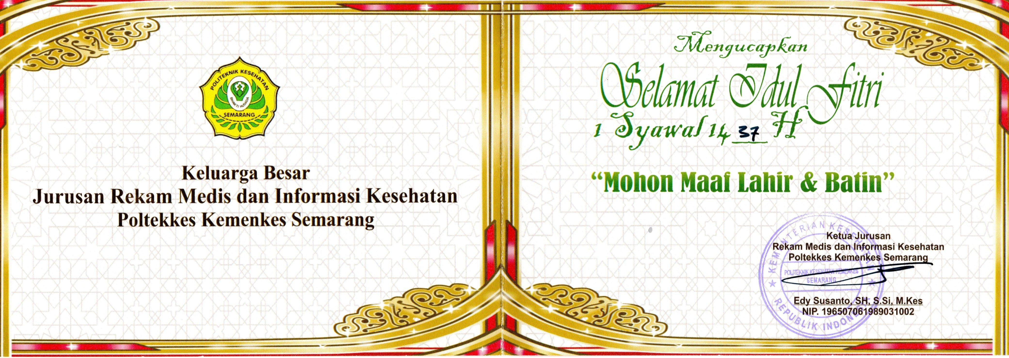 Selamat Hari Raya Idul Fitri 1437 H