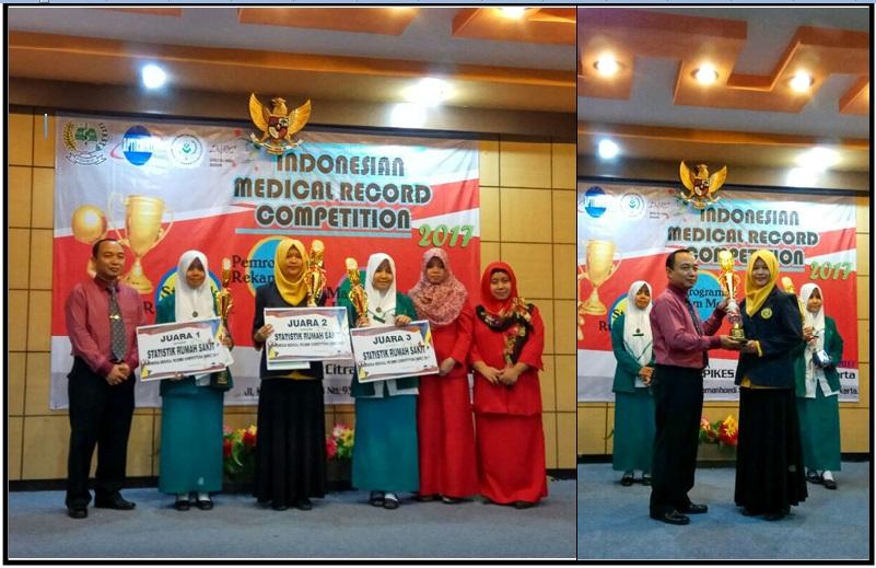 JUARA 2 INDONESIA MEDICAL RECORD COMPETITION (IMRC) 2017 KATEGORI STATISTIK RUMAH SAKIT
