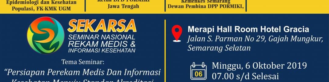 SEKARSA (Seminar Nasional Rekam Medis dan Informasi Kesehatan) 2019